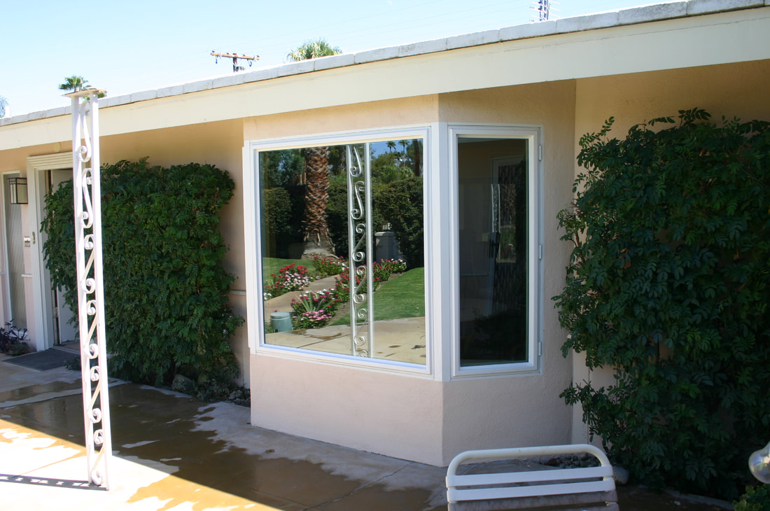 Bay window addition in Palm Desert